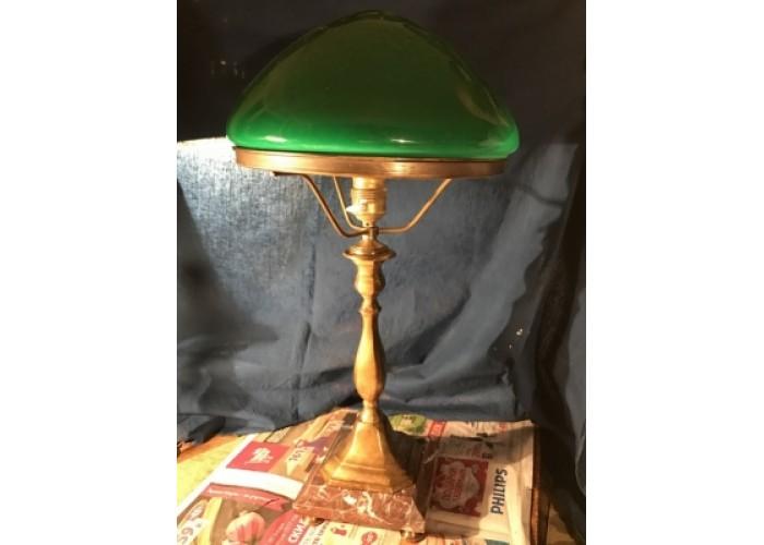 Настольная лампа бронзовая, камень