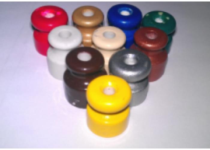 Изолятор фарфор h=24 mm, d=20mm, цветной