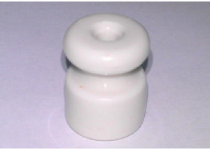 Изолятор фарфор глазурованный h-24 mm., d-18 mm., цвет белый.