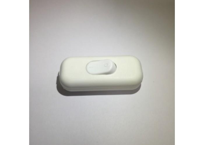 Выключатель на провод белый