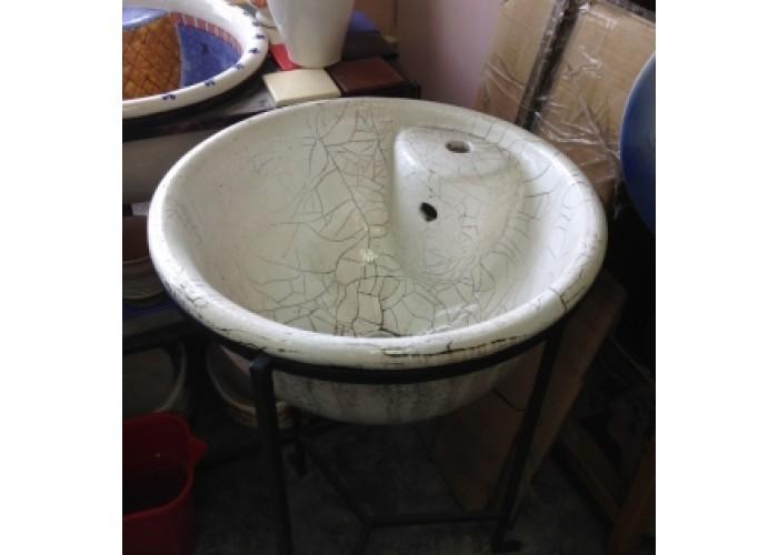 Раковина керамическая состаренная