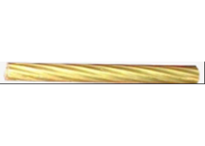 Трубка латунная L=3,0m, d10x1 mm. (витая, узкая полоса)