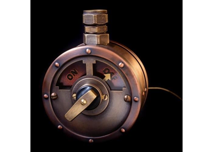 Эксклюзивный выключатель в стиле STIMPANK с поворотным механизмом.  Под заказ.